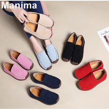 2020 new autumn women's shoes fashion soft leather loafers ladies solid color casual flat shoes women round head loafers ladies autumn fashion solid color denim cloth big bow tie flat bottom casual shoes new women travel gym shoes page 6