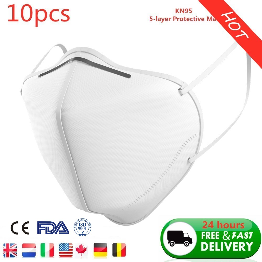 10pcs KN95 Dustproof Anti-fog And Breathable Face Mask 95% Filtration N95 Mask Respirator Pk KF94 24hours Fast Shipping