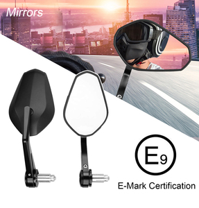 """E-mark Motorcycle 7/8"""" 22mm Rear view Mirror Handle Bar End Mirror For Yamaha R3 MT07 MT09 For BMW R1200GS F800GS Universal(China)"""
