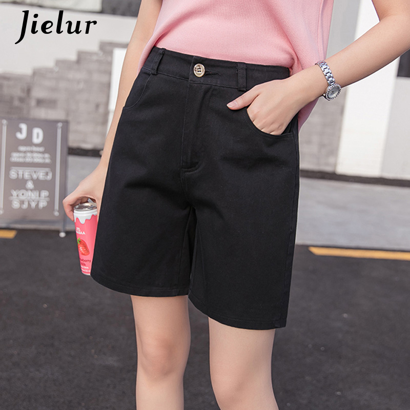 Jielur Denim Shorts Femme Plus-Size Korean Fashion Womans Loose 5-Colors Ete Young-Basic