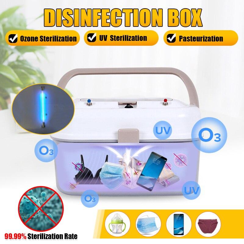 Upgrade Large Capacity Ozone UV Sterilizer Box Disinfection Cabinet Sterilization For Mask Phones Baby Bottle Towel Clothing