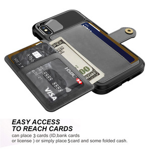 Image 4 - תכליתי עור ארנק מקרה עבור Iphone 12 מיני 11 פרו Xs Max Xr X 8 7 6 6s בתוספת SE 2020 Stand היברידי סיליקון פגוש כיסוי