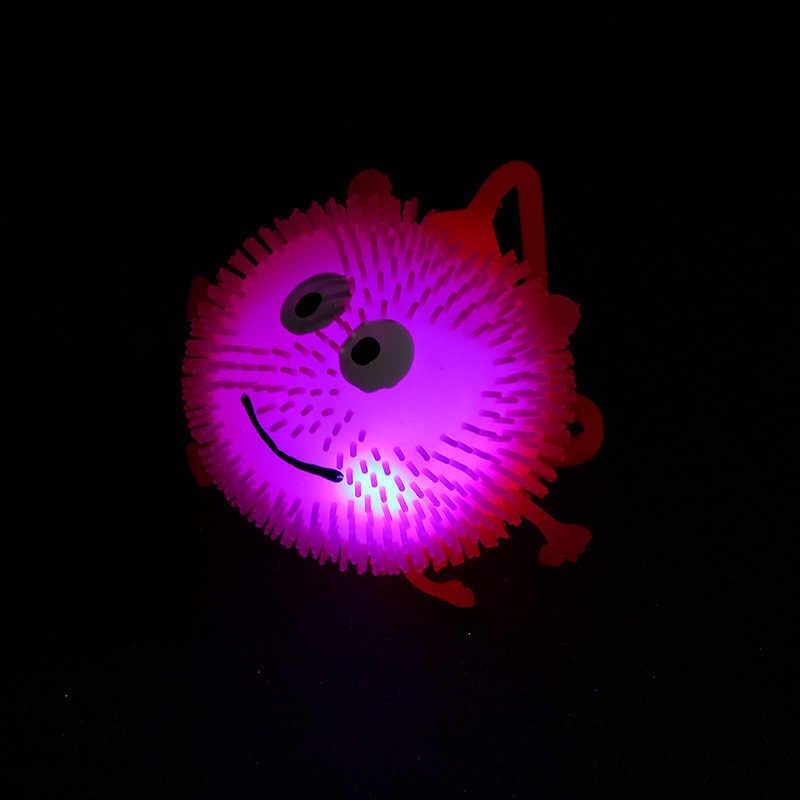 Offerta speciale Brillante Pom Smiley Flash Elasticità Pom Incandescente Giocattolo Bancarella del Mercato Notturno di Vendita caldi Dei Bambini