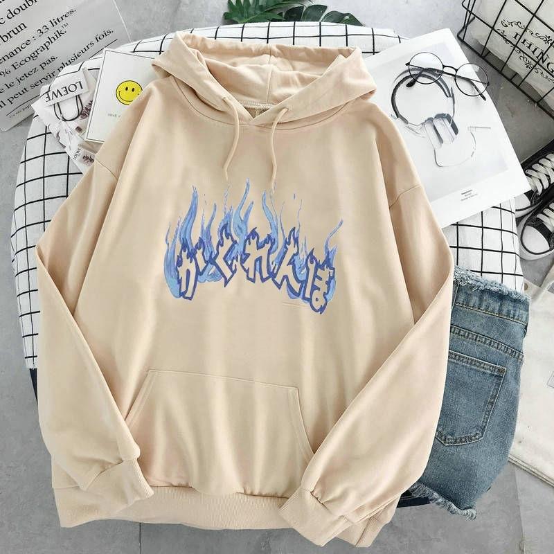 Oversized hoodies womens harajuku plus size women sweatshier fashion print korean style winter coat pink clothing 6