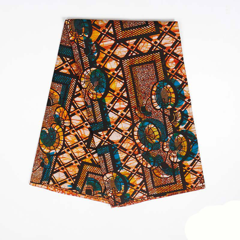 African Wax Fabric Guarantee Real Dutch Wax African Print Fabric 6Yards\lot