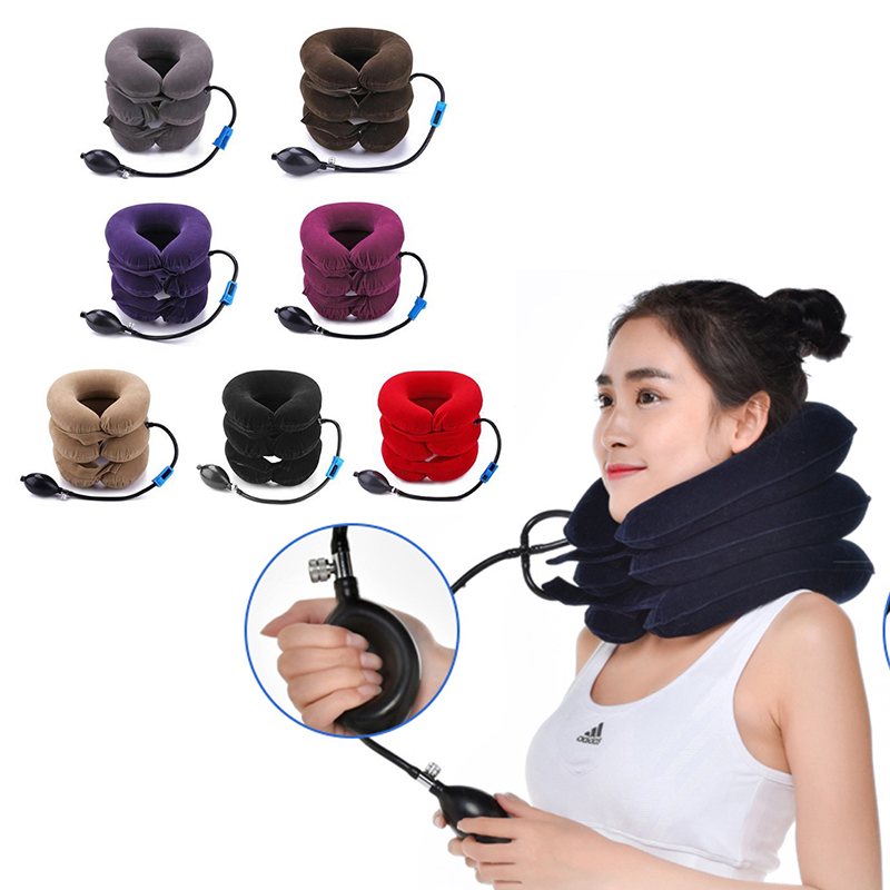 Neck Massage 3-layered Air Inflatable Vertebra Retractor Neck Support Tractor Treatment Mild Stretching Of The Cervical Spine