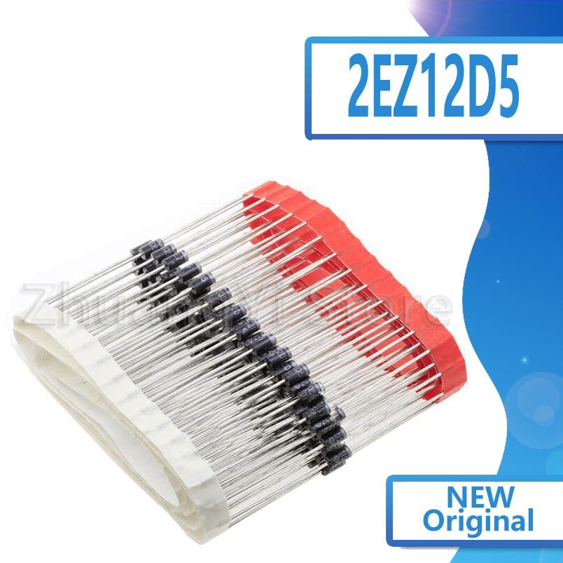 20 قطعة/الوحدة 2 واط زينر ديود 2EZ12D5 12 فولت زينر أنبوب DO-15 ZY12