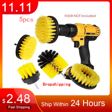 5pcs 3pcs Power Scrubber Brush Set for Bathroom Drill Brushes Cordless Attachment Kit Power Toilet Brush Electric Cleaning Brush