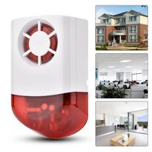 Sirena inalámbrica inteligente, resistente al agua, Flash externo, LED estroboscópico, exterior, para el hogar, sistema de alarma G2B O2B GSM