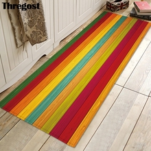 Thregost alfombrillas largas estampadas a rayas, alfombra 3D para rezar, felpudo musulmán para interiores, alfombras de cocina suaves de espuma viscoelástica