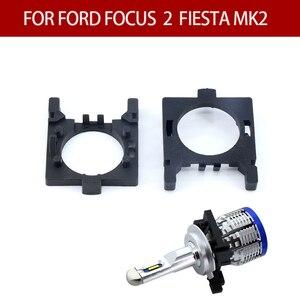 Image 4 - Soporte de bombilla LED para coche, Base de adaptador de enchufes para Ford Focus 2 Fiesta MK2 H7, Base de luz halógena, adaptador de Faro, 2 uds.