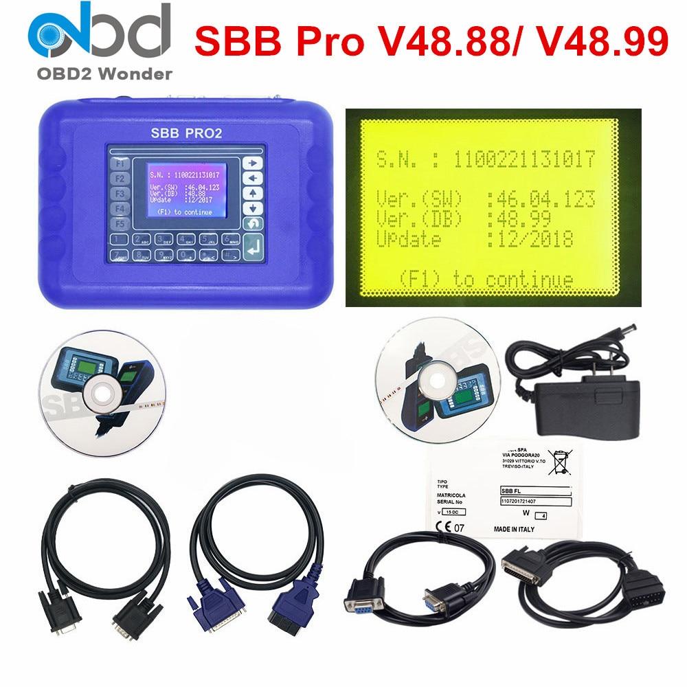 Newest SBB Pro2 Auto Key Programmer SBB V48.88 V48.99 Key Programming Tool SBB 48.88 48.99 Update of V46.02 For Cars Till 2018