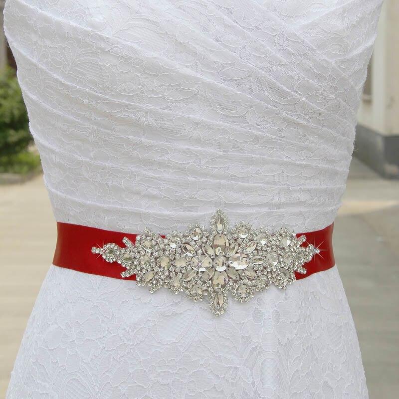 Crystal Wedding Belt Rhinestone Czech Stones Bride Bridal Belt Sashes Wedding Accessories Evening Dress Belt Sashes 55#