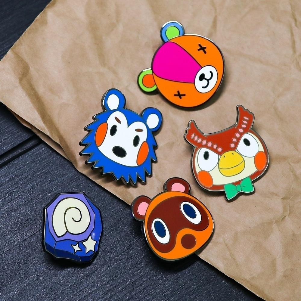 Rabbit with umbrella pin badge Manga novelty lapel pin Cartoon