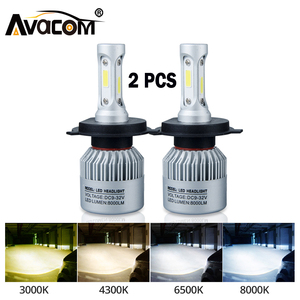 H4 LED H7 H11 H8 HB4 H1 H3 9005 HB3 Auto S2 Car Headlight Bulbs 72W 8000LM Turbo Car Accessories 6500K 4300K 8000K led fog light(China)