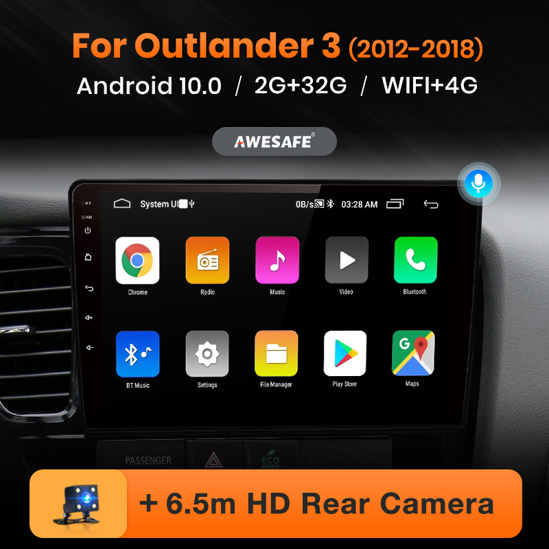 AWESAFE PX9 für Mitsubishi Outlander 3 2012-2017 2018 2019 Auto Radio Multimedia video player GPS Keine 2 din android 10,0 2GB + 32GB
