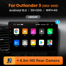 AWESAFE PX9 for Mitsubishi Outlander 3 2012-2017 2018 2019 Car Radio Multimedia video player GPS No 2 din Android 10.0  2GB+32GB