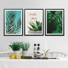 Printable Plant Poster Canvas Art Prints, Green Wall Pictures Modern Decor