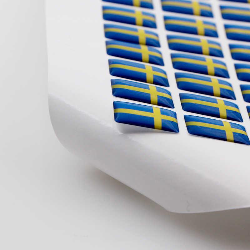 Voiture style moto drapeau suédois volant 3D voiture époxy fit pour Volvo V40 V60 S60L bouclier voiture autocollant emblème accessoires