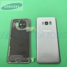 Original Glas Samsung Galaxy S8 S8 Plus G950F G955F Zurück Batterie Abdeckung Tür Hinten Gehäuse Fall Ersatz + Adhesive Sticke