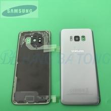 Verre dorigine Samsung Galaxy S8 S8 Plus G950F G955F couvercle de batterie arrière porte boîtier arrière remplacement + adhésif Sticke
