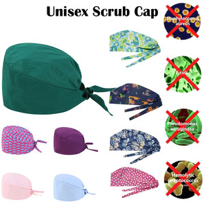 Fashion Solid Print Work Hat Casual Unisex Scrub Cap Unisex Scrub Cap Doctor Nursing Breathable Men's Women Clinic Nursing Caps(China)