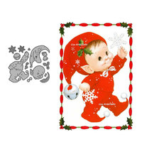 Christmas Metal Cutting Dies Scrapbooking Cute Baby With Snowflower Stencil Dies For Card Making 2020 New Diy Paper Craft Mould