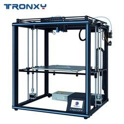 Tronxy 3D impresora X5SA fuente de alimentación 24V 3d impresora de metal completo CoreXY Kits de bricolaje calor 24V de 330*330mm de nivel automático 3d impresora