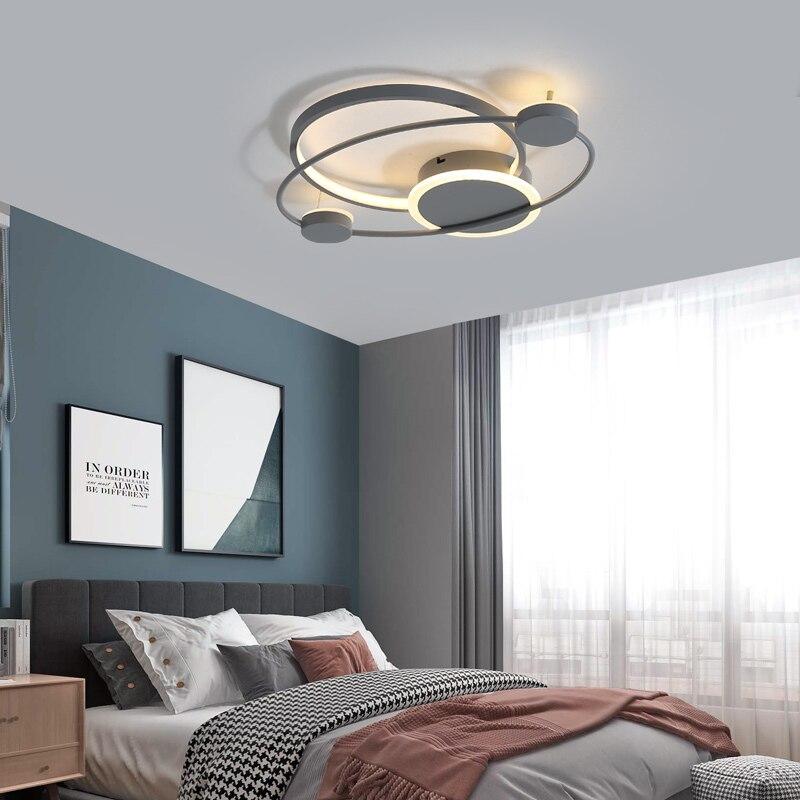 Nordic simples conduziu a luz de teto acrílico moderno sala estar quente romântico luminária quarto cabeceira controle remoto nova lâmpada do teto - 2