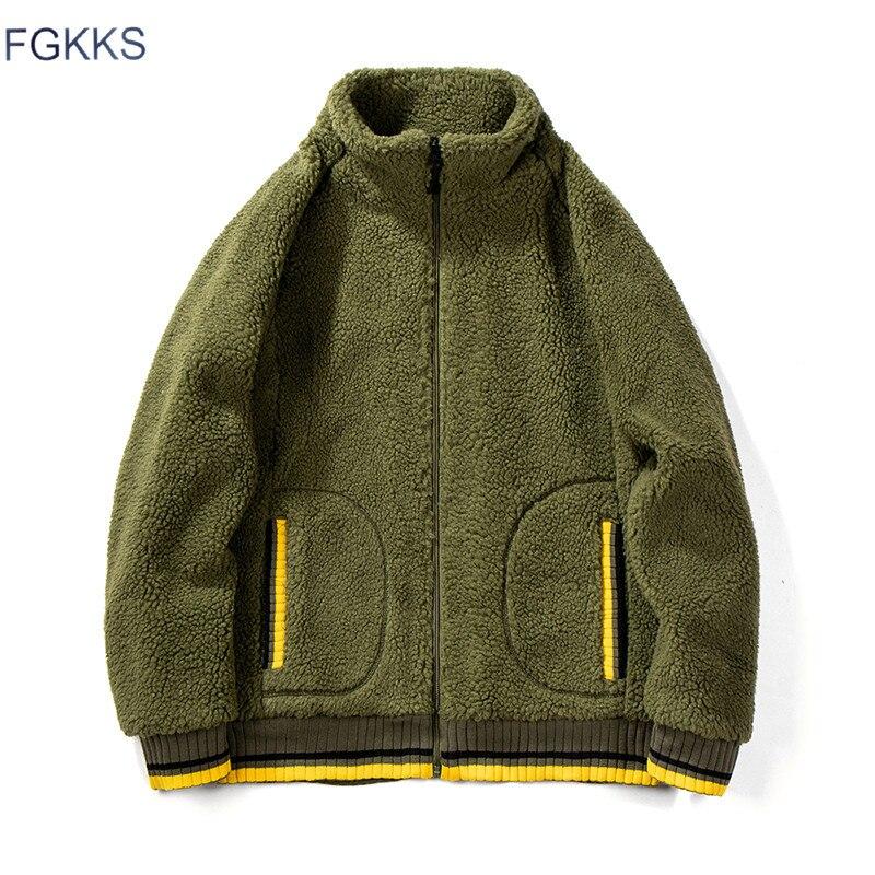 FGKKS Men Hoodies Sweatshirts Autumn Winter New Men's Fashion Solid Color Hoodies Male Casual Sweatshirts Zipper Cardigan Coats