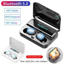 F9 F9-5 F9-9 Bluetooth 5.0 Earbuds 200mAh TWS Wireless LED Digital Display Earphone Waterproof 8D 9D