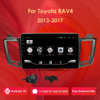 10'' Android 10 Touch screen For For Toyota RAV4 4 XA40 5 XA50 2012 2018 Multifunctional 4G Car Stereo Support DAB+ WIFI Camera image