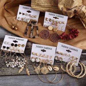 Hot Sale Fashion Bohemian Earrings Set For Women 2020 New Trendy Flower Round Geometric Earring Female Fashion Jewelry