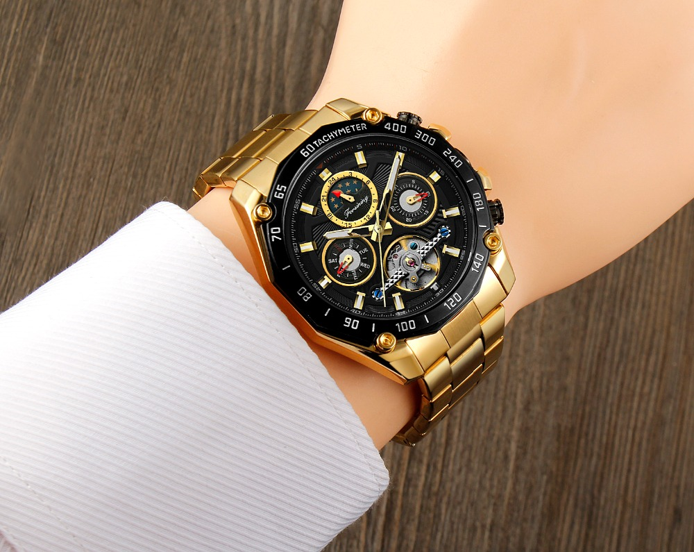 analógico tourbillon estilo mais novo relógio com