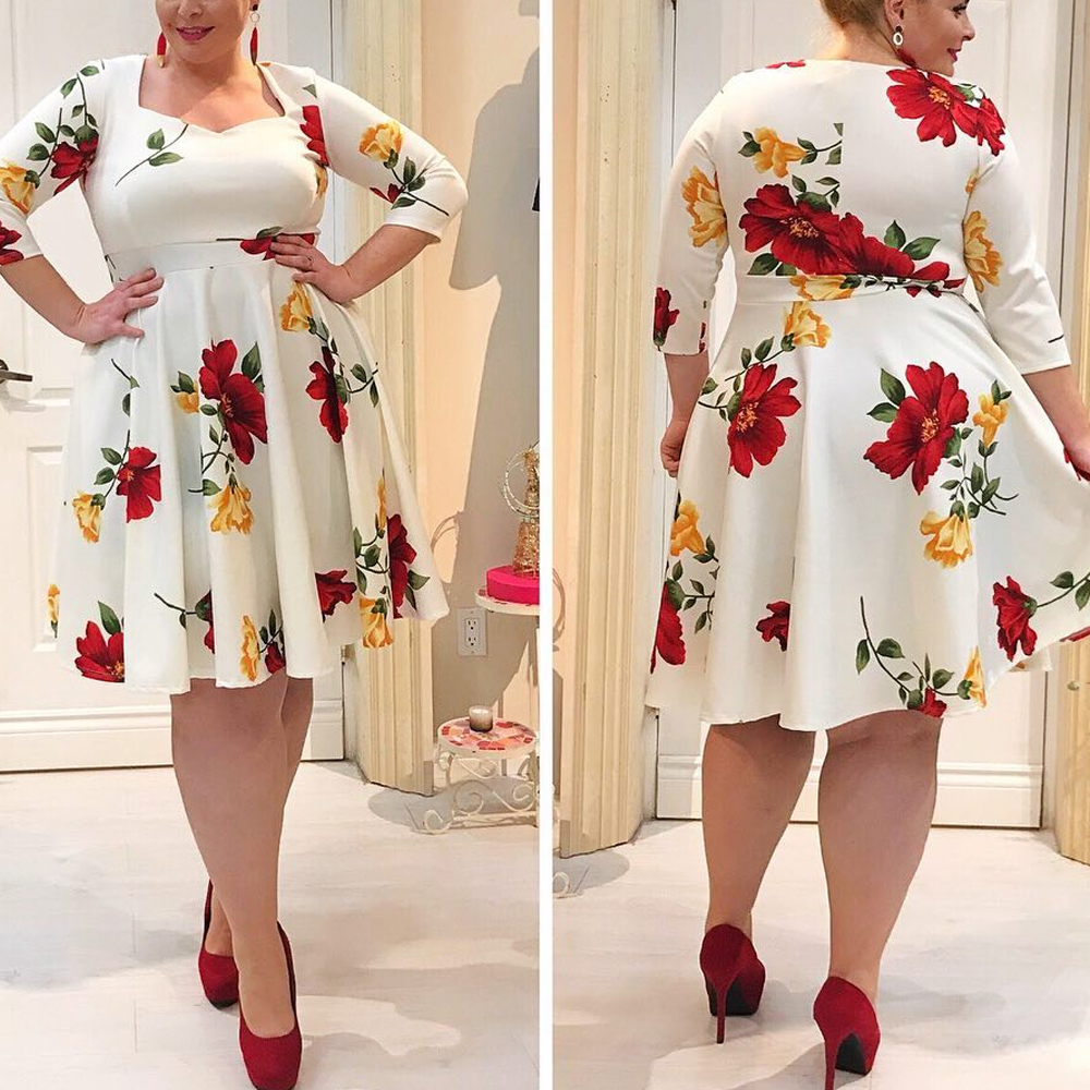 791472---  Plus Size Dress 5XL Women Floral Hc86aa0364d9249a2b7bd09f8cf85de2d0