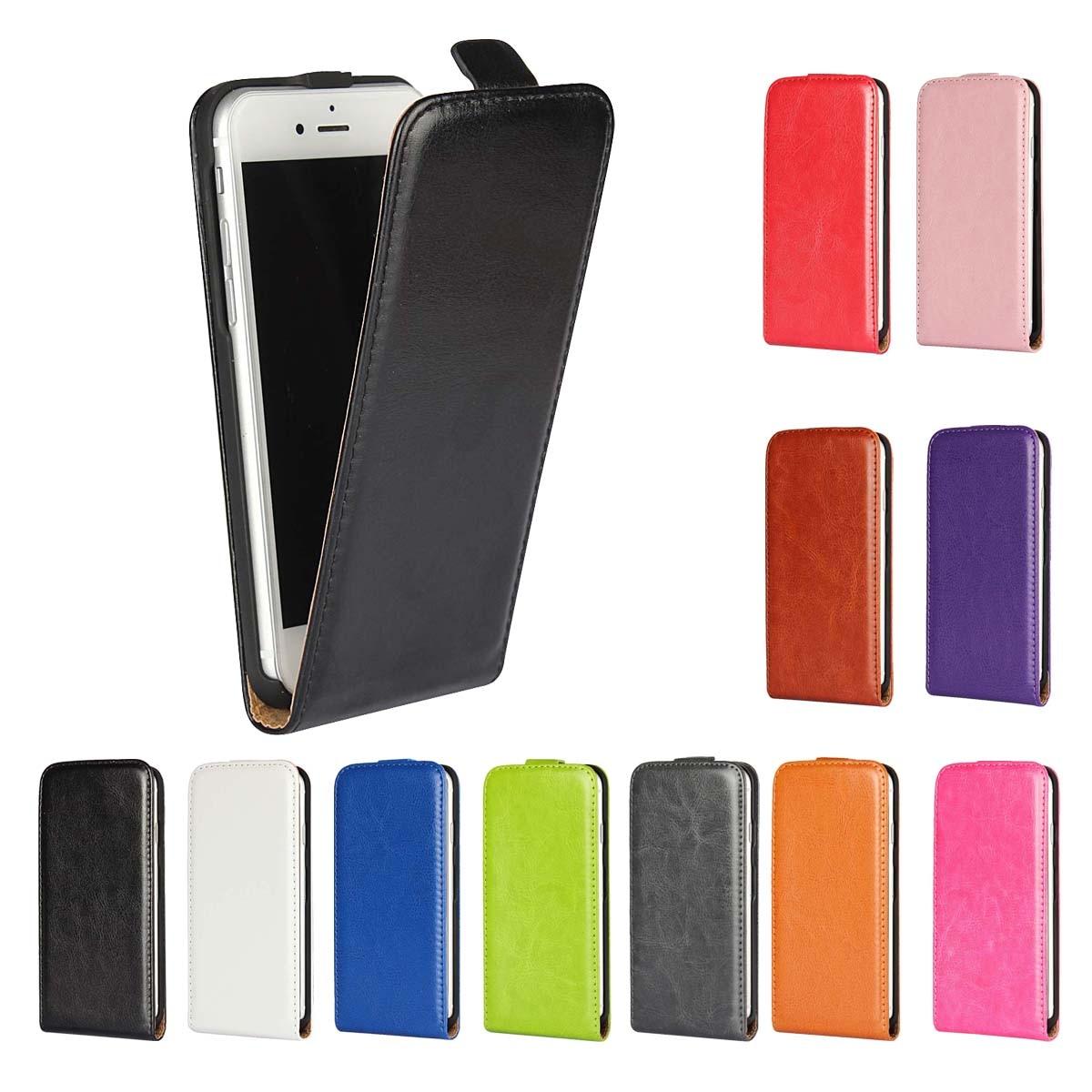 Livre de luxe PU étui à rabat en cuir téléphone Flip vertical sac de couverture pour iPhone 5G 5S SE 5C 4S 7 8 Plus 6G 6S Plus