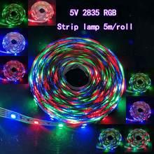 5M/roll 300 LED Strip lamp Flexible Non Waterproof DC12V SMD2835  RGB 5V USB LED light Tape Ribbon HDTV  Backlight Bias lighting