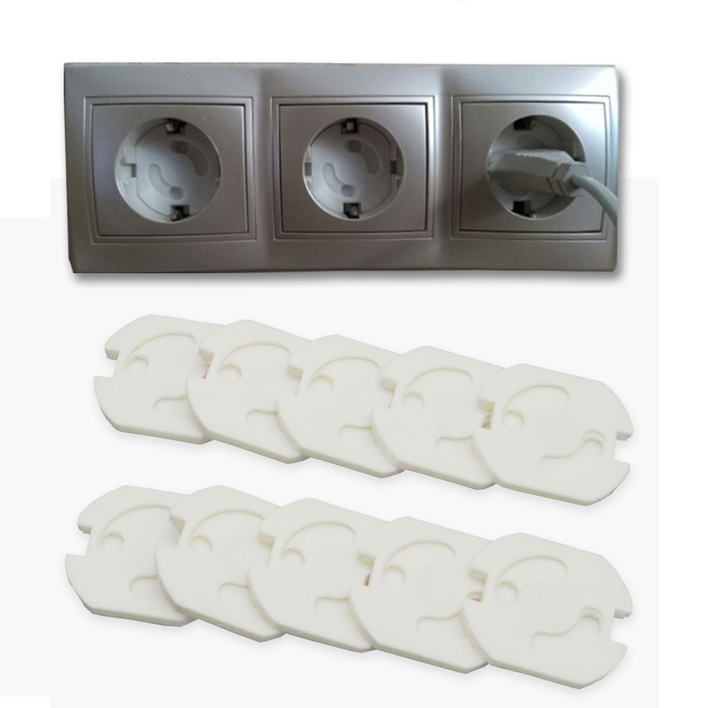10 Pcs/Lot Children Protection EU Power Electrical Outlets Enfant Rotate Cover Plugs For Sockets Protection Baby Plug Protector