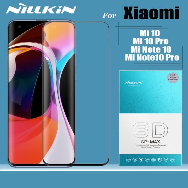 for Xiaomi Mi 10 Pro Mi10 Pro Tempered Glass Nillkin 3D Full Coverage Safety Glass Screen Protector for Xiaomi Mi Note 10 Pro