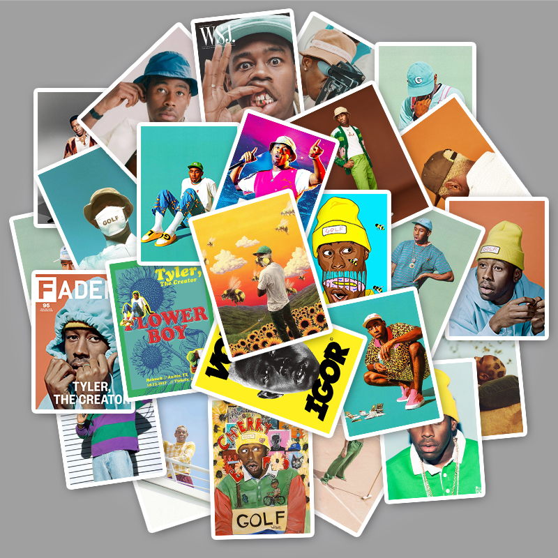 25Pcs American Singer Tyler The Creator Stickers For Fans Gift To DIY Luggage Phone Laptop Fridge Guitar Waterproof Pvc Decal