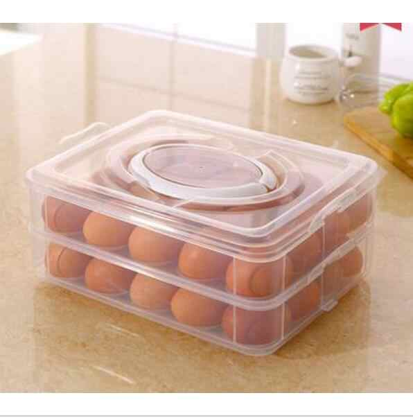 Fresh box refrigerator egg storage box quick dumpling tray sub lattice microwave thawing box portable Colour select