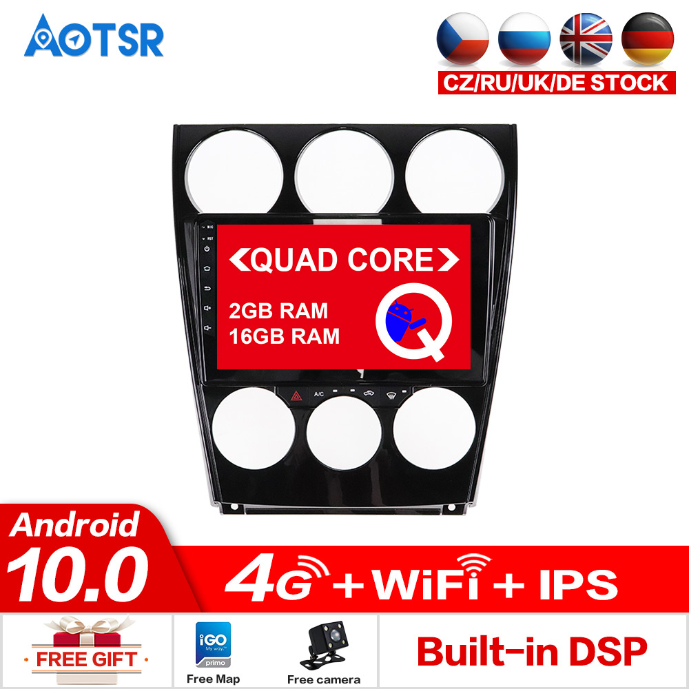 AOTSR <font><b>Android</b></font> 10.0 Car Dvd <font><b>Multimedia</b></font> Player For <font><b>Mazda</b></font> <font><b>6</b></font> 2006-2012 Car Tracker GPS Tape Recorder IPS Screen Stereo Head Unit DSP image