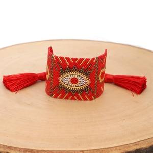 Image 2 - Браслеты SHINUSBOHO в стиле панк для мужчин и женщин, мексиканские браслеты на запястье, ювелирные изделия, женские браслеты 2020, популярные браслеты Миюки с изображением сглаза, женские браслеты