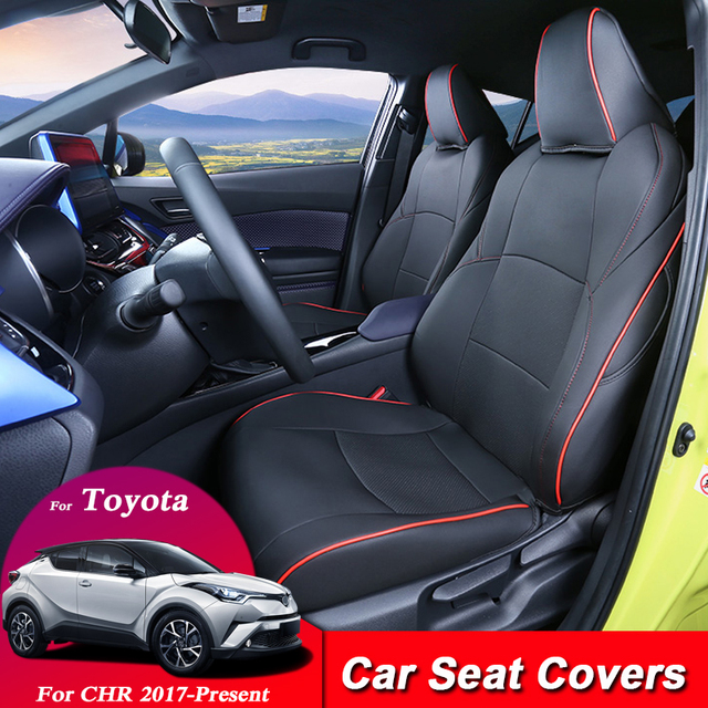 Car Seat Covers Set Leather For Toyota CHR 2017 Present Car Covers Styling Seat Protector Cushions Internal Accessories