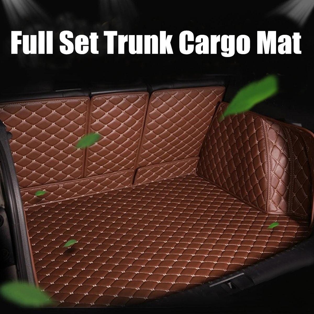 5 pièces ensemble complet coffre tapis Cargo Boot Liner Auto voiture imperméable tapis bagages Pad Liner décoration pour Grand Cherokee 2011-2017
