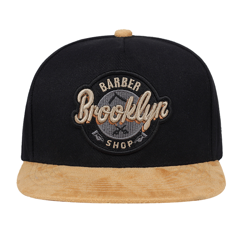Brand BROOKLYN CAP black adjustable hip hop snapback hat for men women adult headwear outdoor casual sun baseball cap