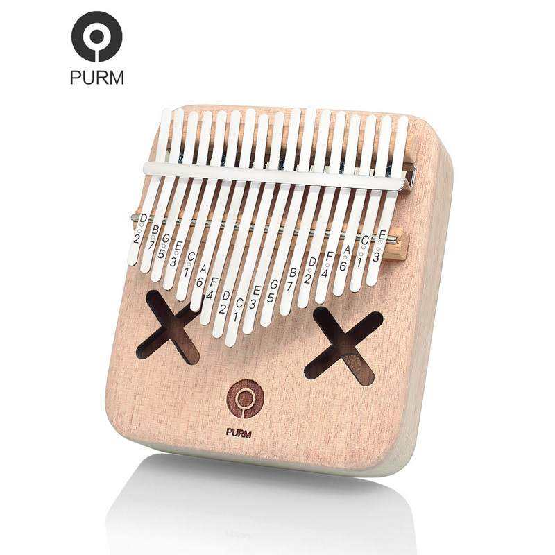 Purm Thumb Piano 17-tone Portable Acacia Wood Kalimba Finger Piano Vibrato Kalinba Musical Instrument