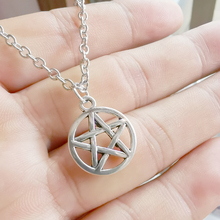 1 Pcs Wicca Pagan Witch Pentagram Pendant Necklaces Tibetan Silver Retro Charms Fashion Jewelry Gift New
