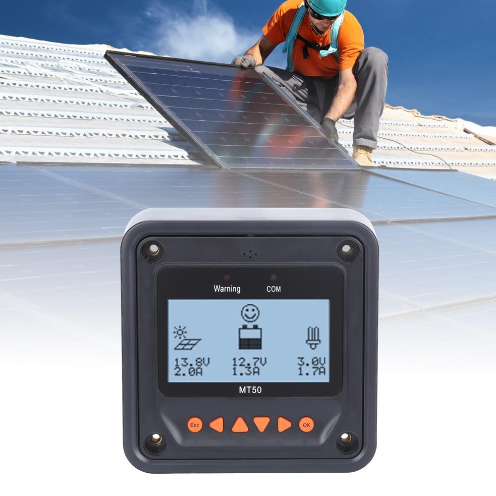 MT-50 controlador de carregamento solar display lcd