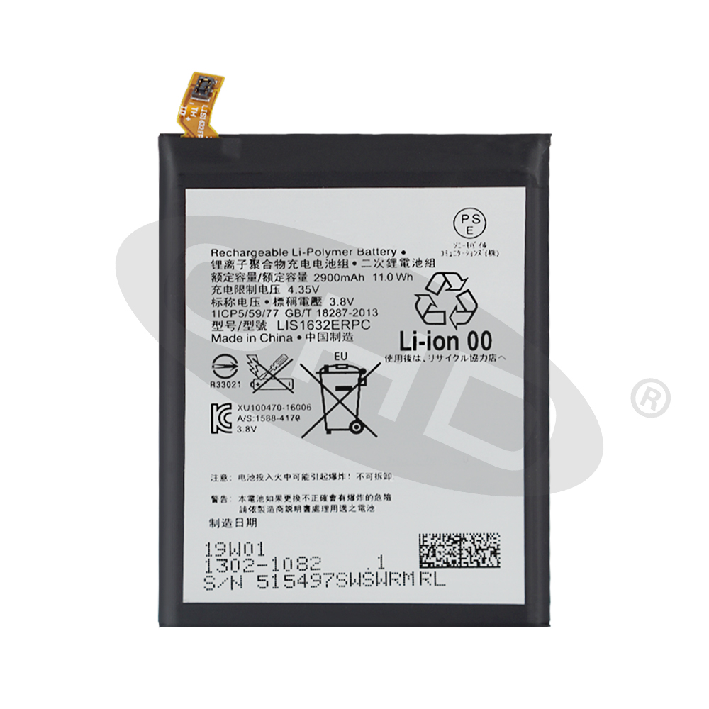 Original Replacement <font><b>Battery</b></font> For SONY <font><b>Xperia</b></font> <font><b>XZ</b></font> F8331 F8332 DUAL LIS1632ERPC Genuine Phone <font><b>Battery</b></font> 2900mAh image